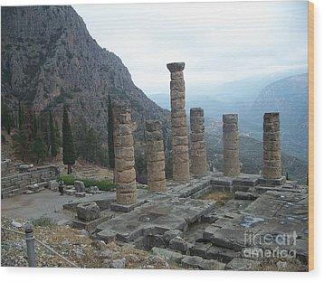Six Columns Wood Print