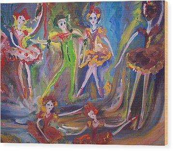 Six Eight Waltz Wood Print by Judith Desrosiers
