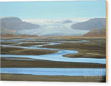 Wood Print featuring the photograph Skaftafell Glacier by Paula Guttilla