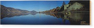 Wood Print featuring the photograph Skaha Lake Kayaking Panorama by Guy Hoffman