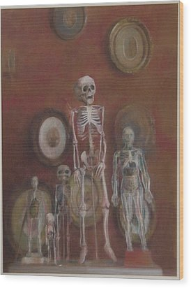 Skeleton Cabinet Wood Print by Paez  Antonio