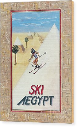 Ski Aegypt Wood Print