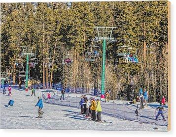 Ski Day Wood Print by Tammy Espino