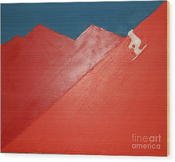 Ski Deer Valley Park City Wood Print by Richard W Linford
