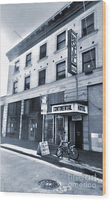 Skid Row Hotel Wood Print by Gregory Dyer