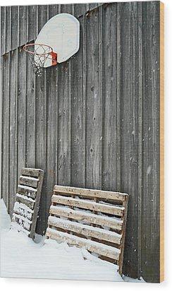 Skid Slam Wood Print by Cyryn Fyrcyd