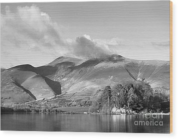 Skiddaw And Friars Crag Mountainscape Wood Print