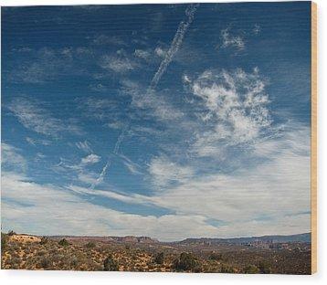 Skies The Limit Wood Print
