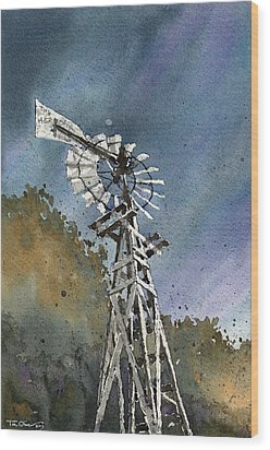Skillet Ranch Mill Wood Print by Tim Oliver