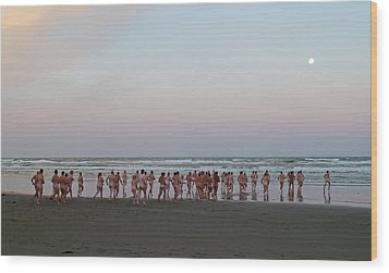 Skinny Dipping Down A Moon Beam Wood Print by Steve Taylor