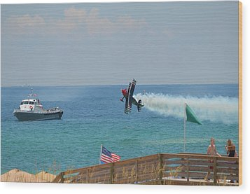 Wood Print featuring the photograph Skip Stewart Extreme Low-level Practice by Jeff at JSJ Photography