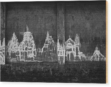 Skc 0003 Temple Complex Wood Print by Sunil Kapadia