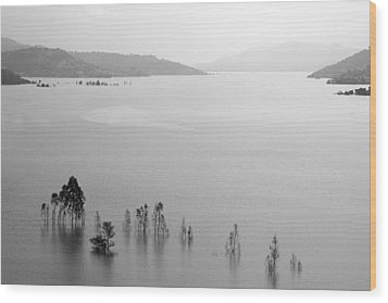 Skc 0055 A Hazy Riverscape Wood Print by Sunil Kapadia