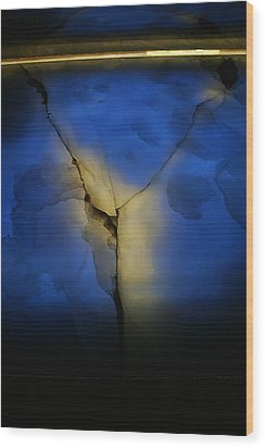 Skc 0243 Cracked Y Wood Print by Sunil Kapadia