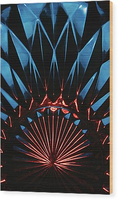 Skc 0269 Cut Glass Wood Print by Sunil Kapadia