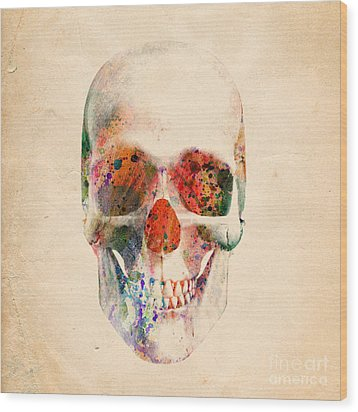 Skull 12 Wood Print by Mark Ashkenazi