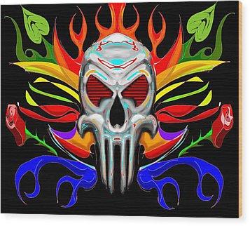 Skull Abstract Wood Print by Arpit Handa