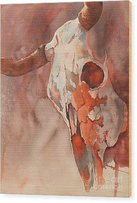 Skull Of The Brave Wood Print