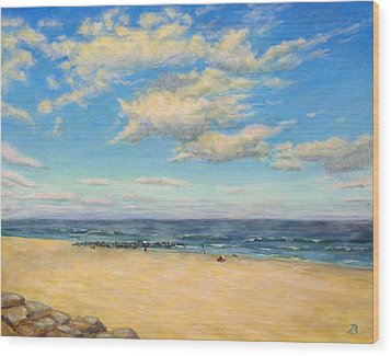 Wood Print featuring the painting Sky And Sand by Joe Bergholm