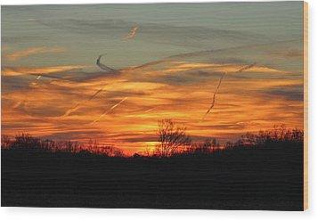 Sky At Sunset Wood Print by Cynthia Guinn