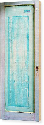Sky Blue Entrance Entre Vous Wood Print by Asha Carolyn Young