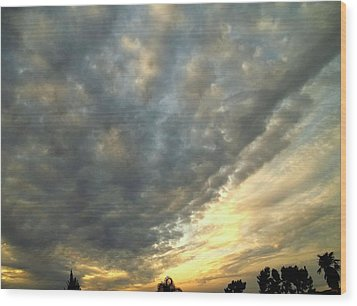 Sky Canvas Wood Print by Glenn McCarthy Art and Photography