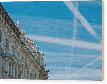 Sky Crossroads Wood Print by Viacheslav Savitskiy
