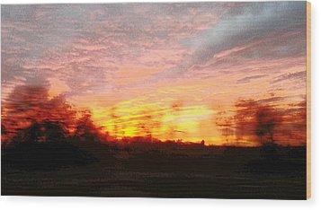 sky Wood Print by David Alvarez