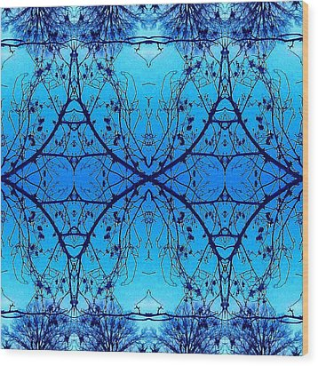 Sky Diamonds Abstract Photo Wood Print