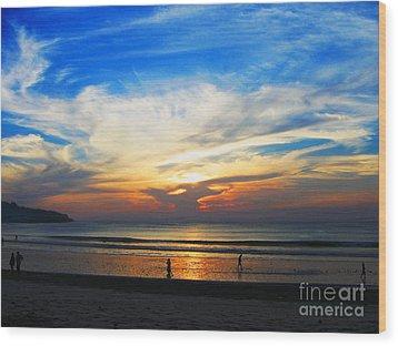 Sky Hues Wood Print by Marguerita Tan