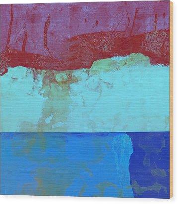 Sky Into The Sea Wood Print by Carol Leigh
