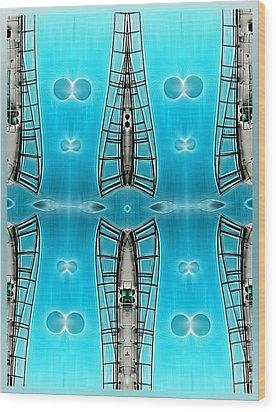 Sky Ladders Wood Print by Wendy J St Christopher