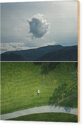 sky Wood Print by Noahlakcus