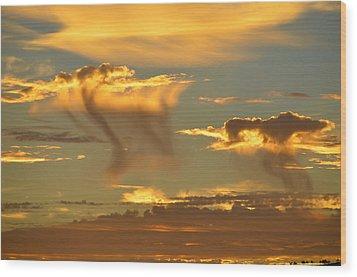 Sky Of Snakes Wood Print