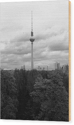 Sky Over Berlin Wood Print by Steve K