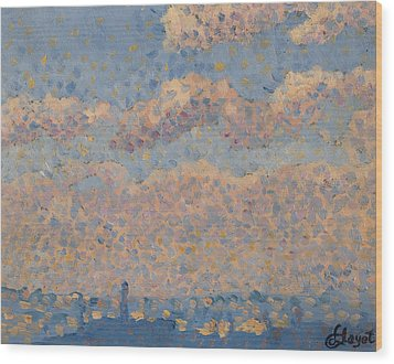 Sky Over The City Wood Print by Louis Hayet