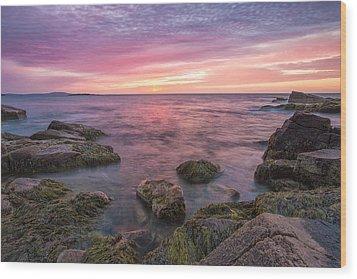 Sky Purple Wood Print by Jon Glaser