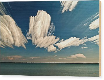 Sky Sculptures Wood Print
