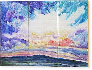 Sky Sonata Wood Print