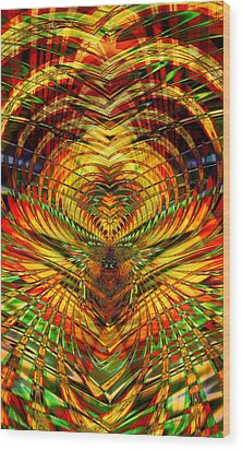 Sky Tunnel Wood Print by Kiki Art