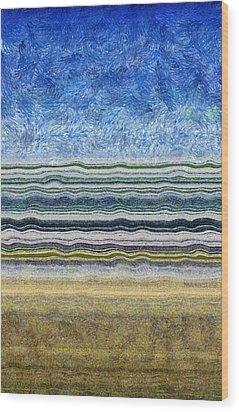 Sky Water Earth 2 Wood Print by Michelle Calkins