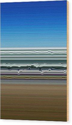 Sky Water Earth Wood Print by Michelle Calkins