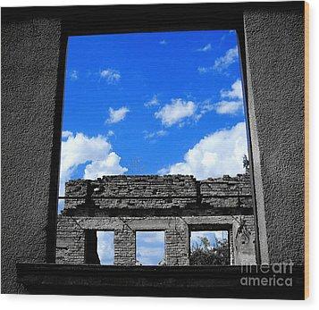 Sky Windows Wood Print by Nina Ficur Feenan