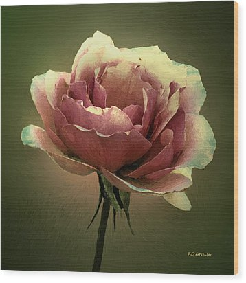 Skyblue Pink Wood Print by RC deWinter