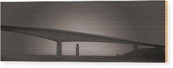 Skye Bridge Wood Print by Sergey Simanovsky