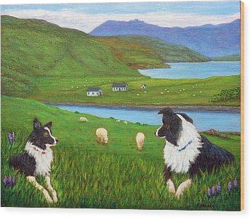 Skye Watch Wood Print by Fran Brooks