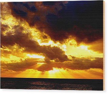 Wood Print featuring the photograph Skygold by Amar Sheow