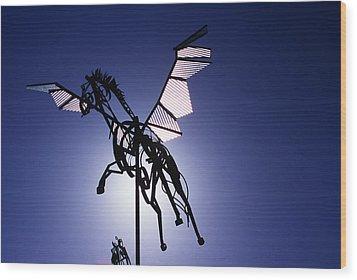 Skyhorse Wood Print by Bernard  Barcos