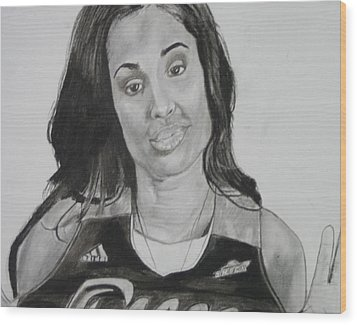 Skylar Diggins Wood Print by Aaron Balderas
