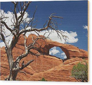 Skyline Arch 2 Wood Print by Mel Steinhauer